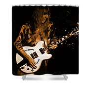 Rush 77 #17 Enhanced In Amber Shower Curtain