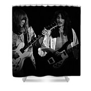 Rush 77 #46 Enhanced Bw Shower Curtain