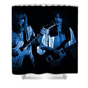 Rush 77 #46 Enhanced In Blue Shower Curtain