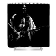 Rush 77 #56 Enhanced Bw Shower Curtain