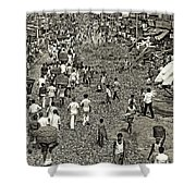 Rush Hour - Sepia Shower Curtain