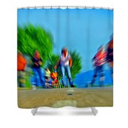 Rush On Skates Shower Curtain