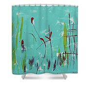 Rushes And Reeds Shower Curtain