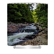 Rushing Falls In The Mountains Shower Curtain