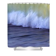Rushing To Shore Shower Curtain