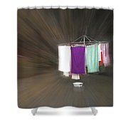 Rushing To The Washline Shower Curtain