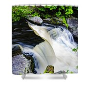 Rushing Water On A Mountain Stream Shower Curtain