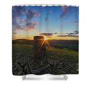 Rushup Edge From Mam Tor Summit Sunset Shower Curtain
