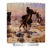 Russell Charles Marion At Rope S End Shower Curtain