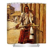 Russell Charles Marion Buffalo Coat Shower Curtain