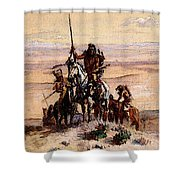 Russell Charles Marion Indians On Plains Shower Curtain