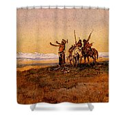 Russell Charles Marion Invocation To The Sun Shower Curtain