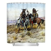 Russell Charles Marion On The Prowl Shower Curtain
