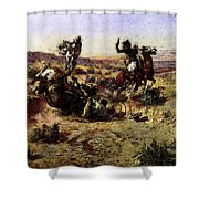 Russell Charles Marion The Broken Rope Shower Curtain