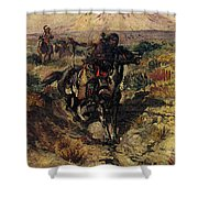 Russell Charles Marion The Scouting Party Shower Curtain