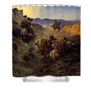 Russell Charles Marion The Slick Ear Shower Curtain