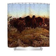 Russell Charles Marion The Surround Shower Curtain