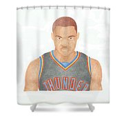 Russell Westbrook  Shower Curtain