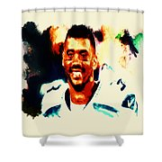 Russell Wilson 02b Shower Curtain