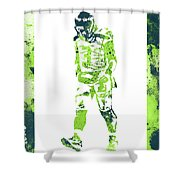 Russell Wilson Seattle Seahawks Water Color Art 2 Shower Curtain