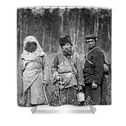 Russia: Convicts, C1885 Shower Curtain