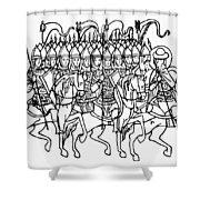 Russia: Royal Guard Shower Curtain