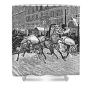 Russia: Troika, 1888 Shower Curtain