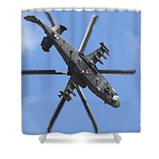 Russian Air Force Ka-52 Helicopter Shower Curtain