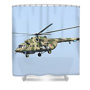 Russian Air Force Mi-171sh Helicopter Shower Curtain