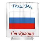 Russian Flag Shower Curtain