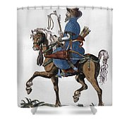 Russian Horseman, C1577 Shower Curtain