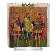 Russian Icon: Saints Shower Curtain