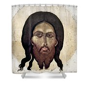 Russian Icon: The Savior Shower Curtain