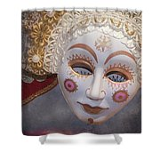 Russian Mask 4 Shower Curtain