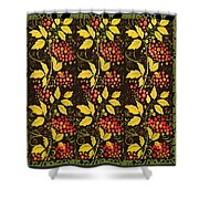 russian pattern Hohloma Shower Curtain
