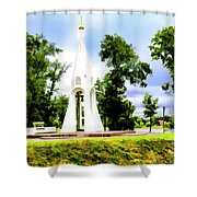 Russian Peace Tower Shower Curtain
