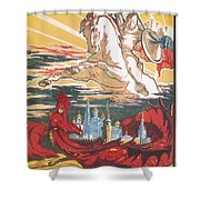 Russian Poster Shower Curtain