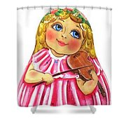 Russian Roly Poly Doll Music Doll Shower Curtain