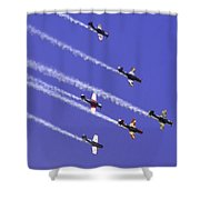 Russian Roolettes And Blue Sky Shower Curtain