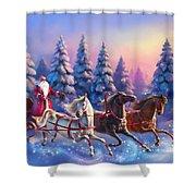Russian Three-horse Shower Curtain