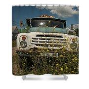 Russian Truck Shower Curtain