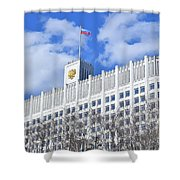 Russian White House Shower Curtain