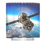 Majestic Blue Planet Earth Shower Curtain