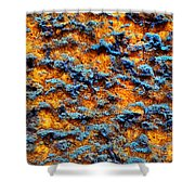 Rust Abstract 6 Shower Curtain
