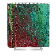 Rust Abstract Shower Curtain by Carol Groenen