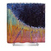 Rust Abstract With Curved Line Shower Curtain