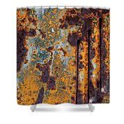 Rust Abstract Car Part Shower Curtain