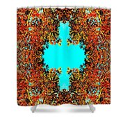 Rust And Sky Shower Curtain