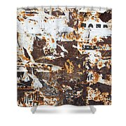 Rust And Torn Paper Posters Shower Curtain
