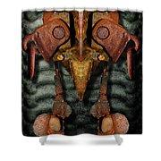 Rust Bone Totem Shower Curtain